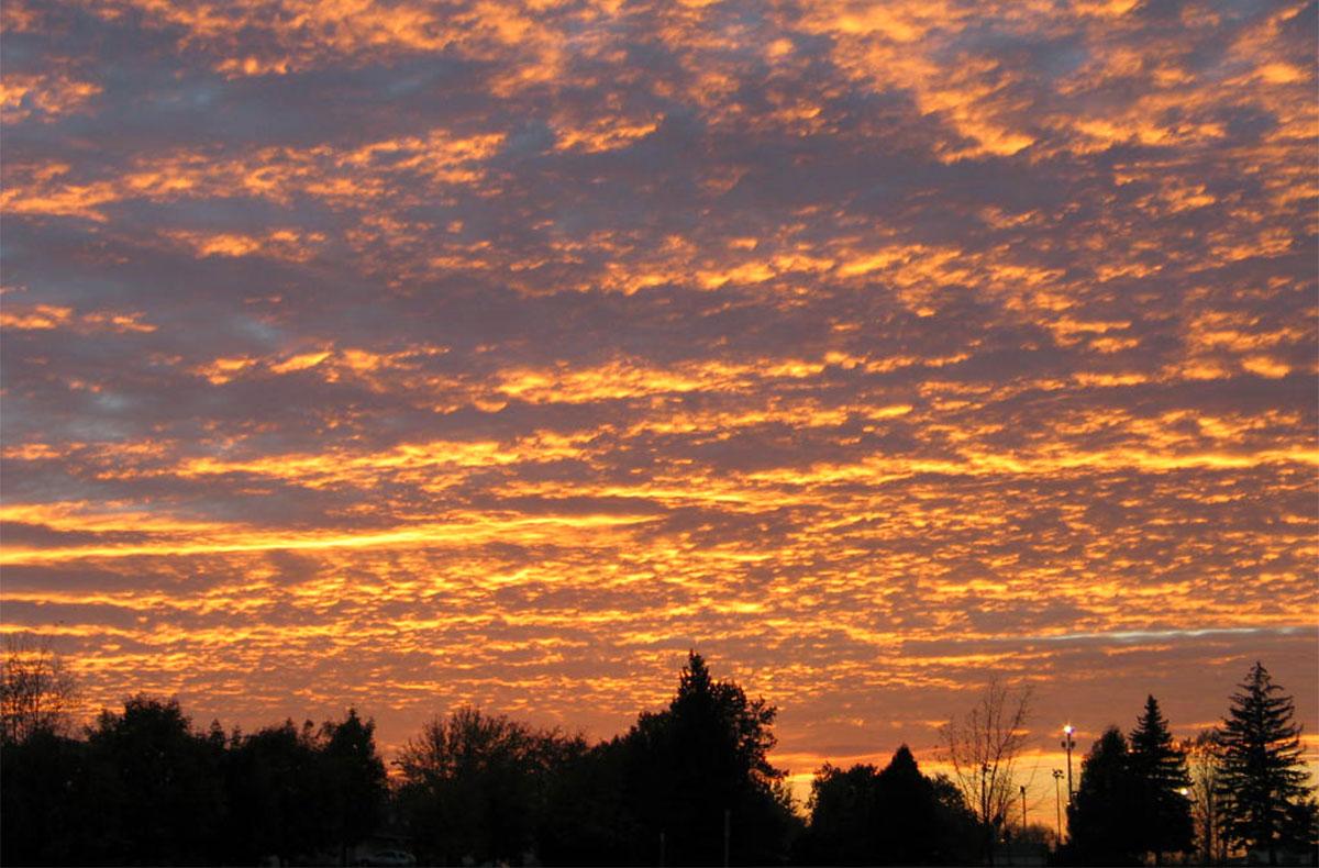 Un coucher de soleil.