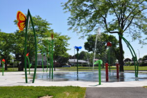 Jeux d'eau du parc F.-Raymond-Lefebvre