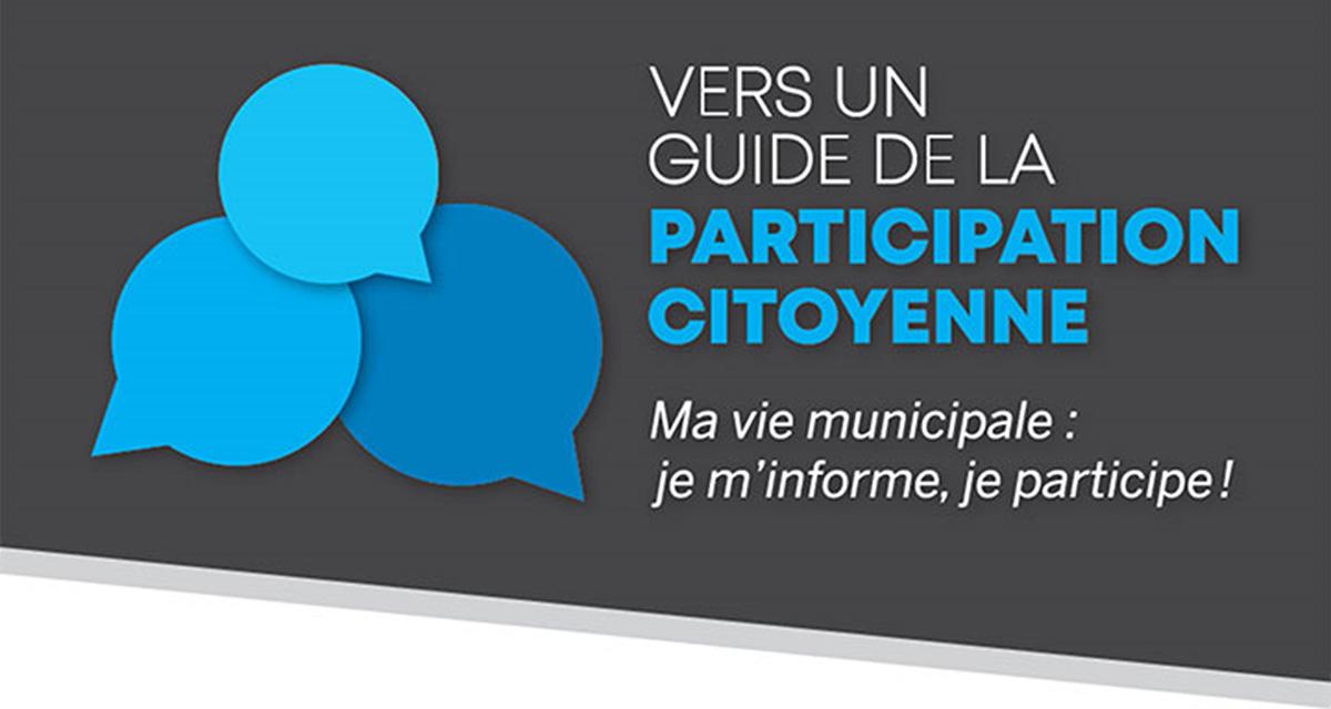 Vers un guide de la participation citoyenne.
