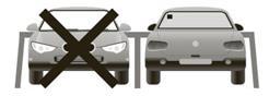 Vignette de stationnement visible de l'arrière du véhicule