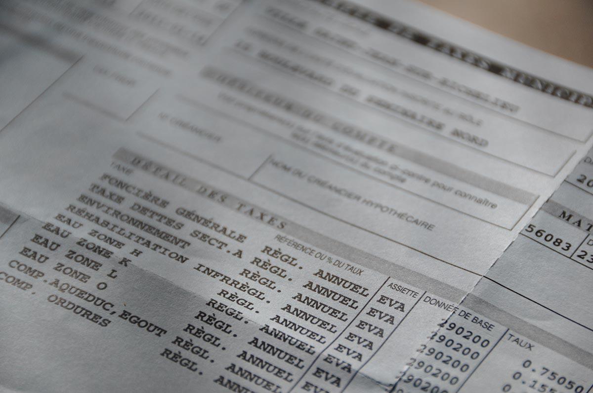 Un compte de taxes municipales.