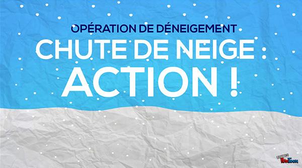 La présentation multimédia Chute de neige, action!