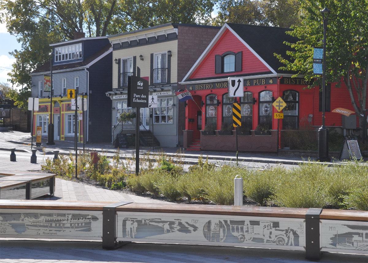 Des commerces du la rue Champlain.