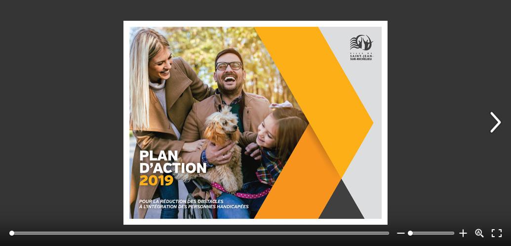 La page couverture du plan d'action 2019.