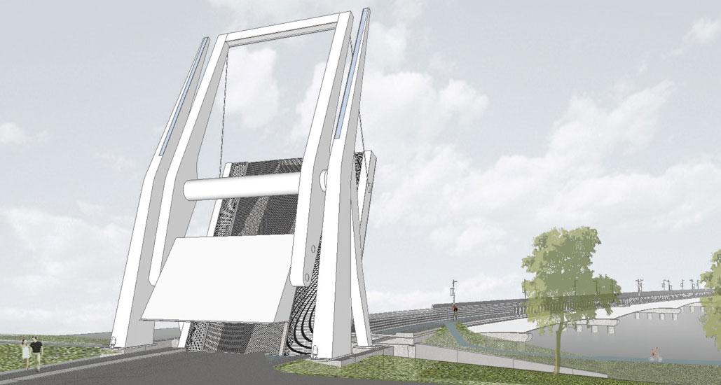 Illustration du nouveau pont.