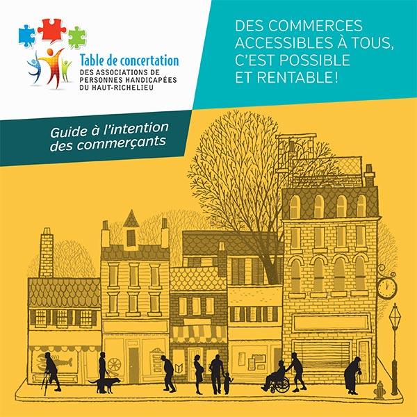 Page couverture du Guide à l'intention des commerçants.