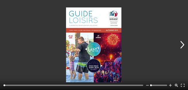Page couverture du Guide loisirs.