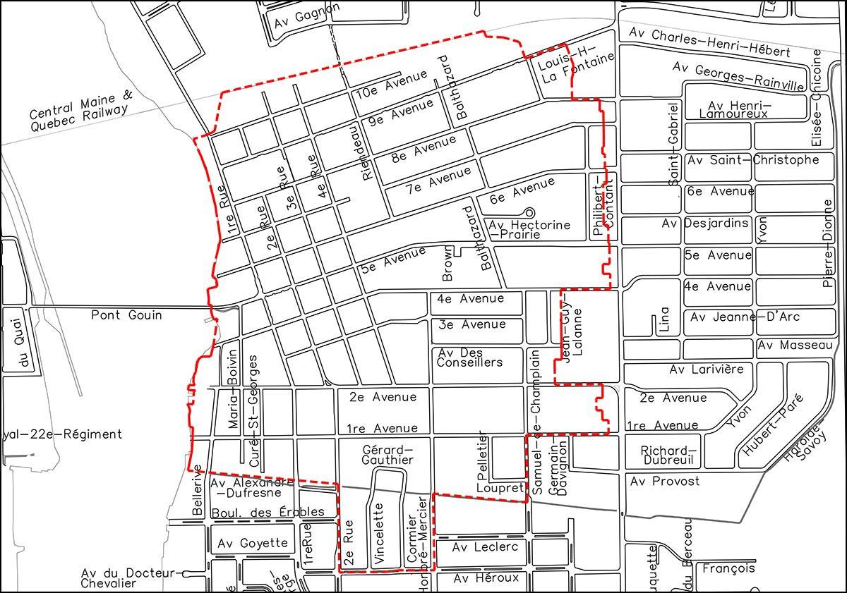 Carte du Vieux-Iberville.
