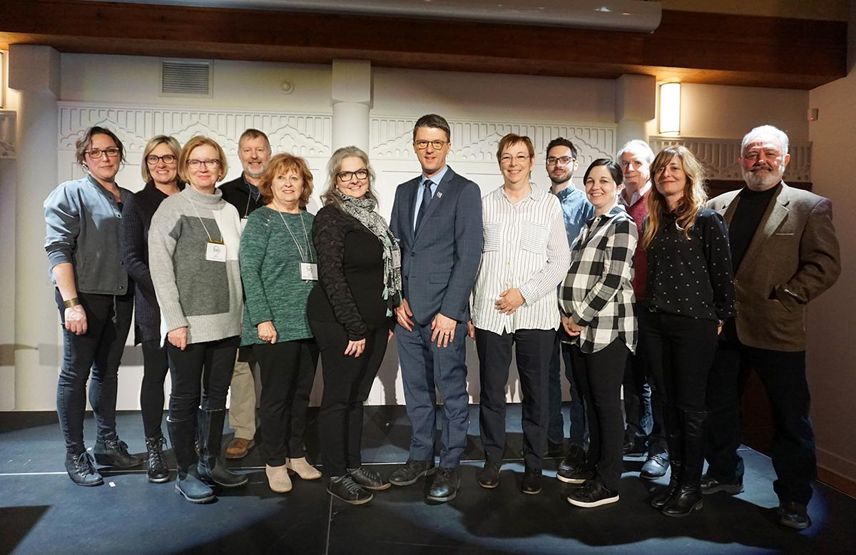 Photo de groupe lors du lancement de Accès-Loisirs.