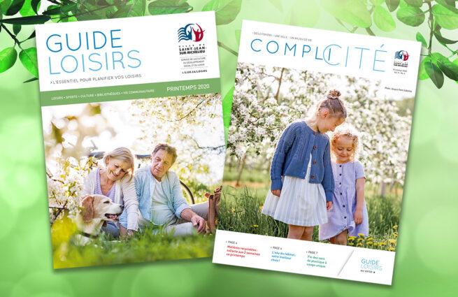 Guide loisirs et Complicité, édition printemps 2020.