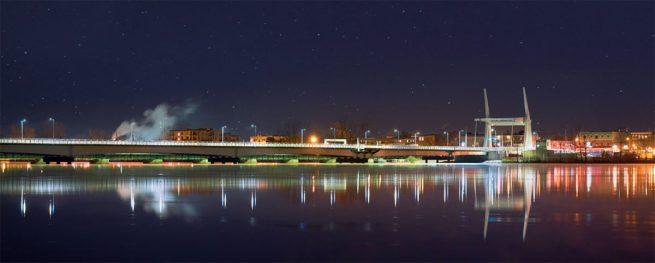 Le nouveau pont Gouin.