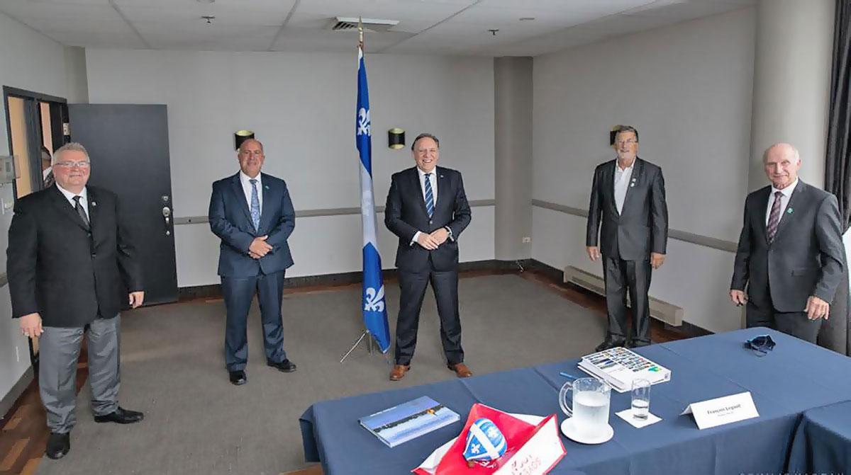 Visite du premier ministre Legault.