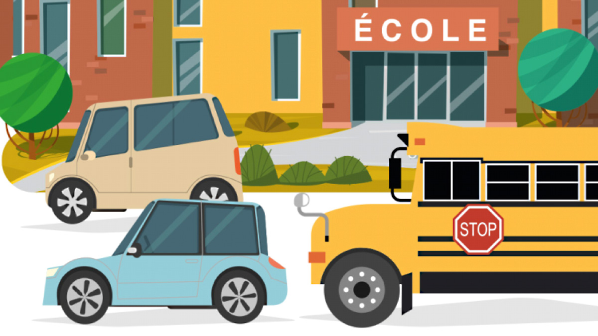 Illustration d'une zone scolaire.