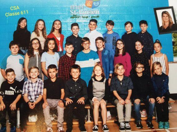 Classe gagnante de l'école Saint-Lucien