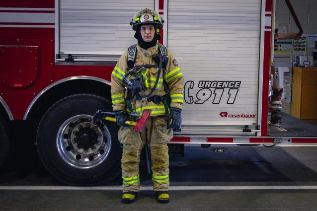 L'équipement d'un pompier (face)