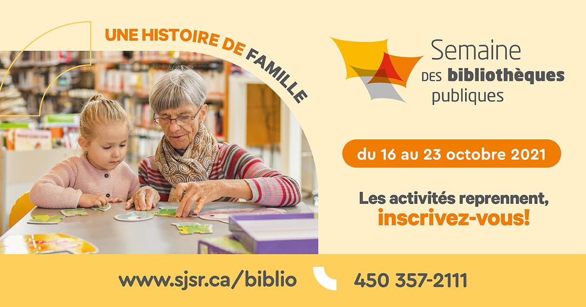 Semaine des bibliothèques du 16 au 23 octobre 2021